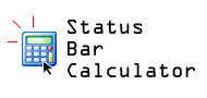 Status-bar Calculator
